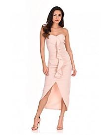 AX Paris Bardot Frill Detail Midi Dress