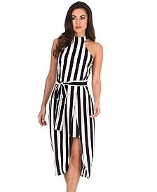 AX Paris High Neck Striped Dress