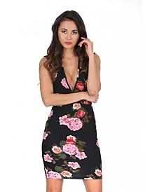AX Paris V Neck Floral Mini Dress