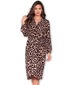 AX Paris Animal Print V-Neck Wrap Dress