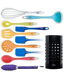 11-Piece All-in-One Multicolor Silicone Utensil Set