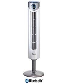 "Ozeri Ultra 42"" Tower Fan with Bluetooth and Noise Reduction Technology"