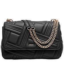 Allen Leather Flap Shoulder Bag, Created for Macy's