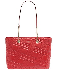 DKNY Allen Leather Chain Tote, Created for Macy's