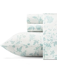 Garden Palace Pastel Blue Sheet Set, Queen