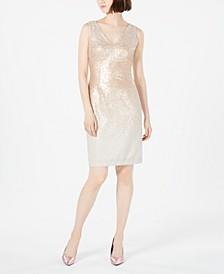 Ombré Sequin Sheath Dress