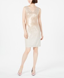 Calvin Klein Ombré Sequin Sheath Dress