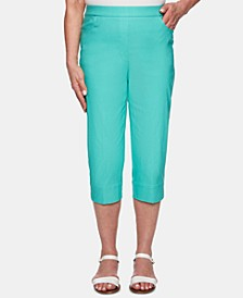 Petite Coastal Drive Pull-On Capri Pants