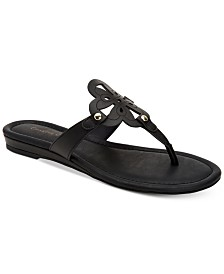 Charter Club Women's Ozella Flat Sandals, Created for Macy's