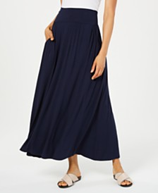 Style & Co Pull-On Pocket Maxi Skirt, Created for Macy's