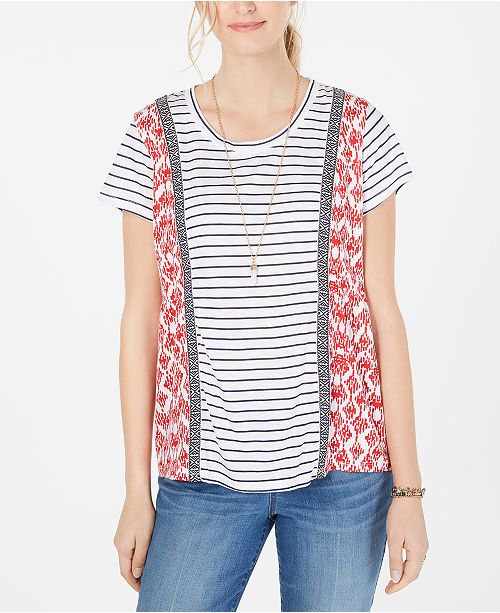 Style & Co Printed Short-Sleeve Top, Created for Macy's
