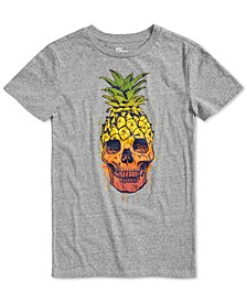 Big Boys Pineapple Skull T-Shirt, Created for Macy's