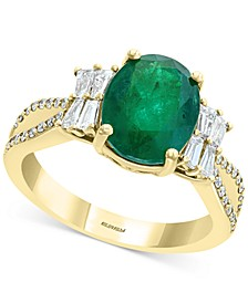 EFFY® Emerald (2-1/8 ct. t.w.) & Diamond (1/2 ct. t.w.) Statement Ring in 14k Gold