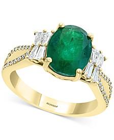 EFFY® Emerald (2-1/8 ct. t.w.) & Diamond (1/2 ct. t.w.) Statement Ring in 14k Gold