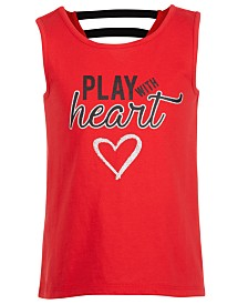 Ideology Toddler Girls Play with Heart Graphic Tank Top, Created for Macy's