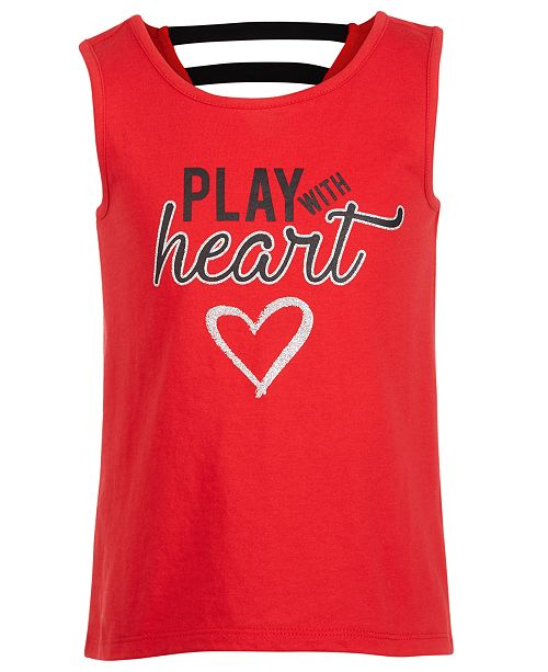 Ideology Little Girls Strappy Back Graphic Tank Top, Created for Macy's