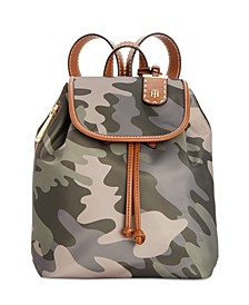 Julia Nylon Camo Drawstring Backpack