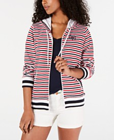 Tommy Hilfiger Striped Hoodie Jacket, Created for Macy's