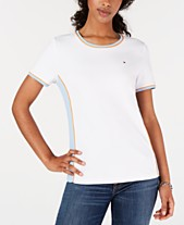 c3759091ee Tommy Hilfiger Striped Contrast T-Shirt, Created for Macy's