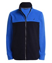aca117677ed90 Nautica Little Boys Grant Red Colorblocked Full-Zip Fleece Jacket