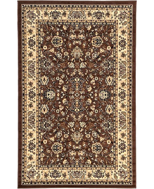 Bridgeport Home Arnav Arn1 Brown 5' x 8' Area Rug