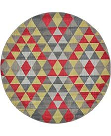 CLOSEOUT! Arcata Arc1 Multi 6' x 6' Round Area Rug