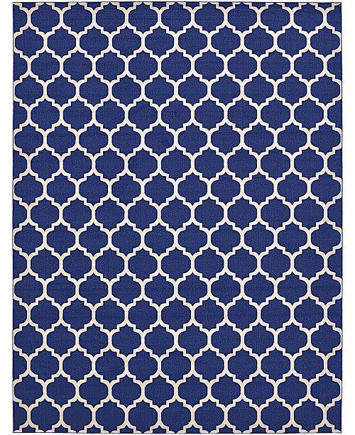 Bridgeport Home Arbor Arb1 Dark Blue 13' x 18' Area Rug