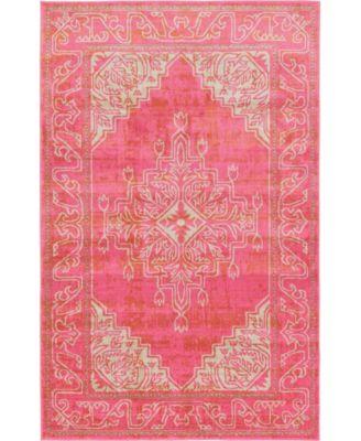 Aroa Aro8 Pink 5' x 8' Area Rug