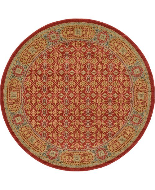 Bridgeport Home Wilder Wld7 Red 6' x 6' Round Area Rug