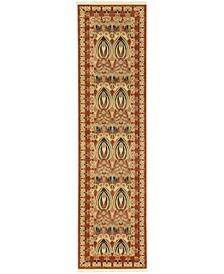 "Orwyn Orw3 Red/Beige 2' 7"" x 10' Runner Area Rug"