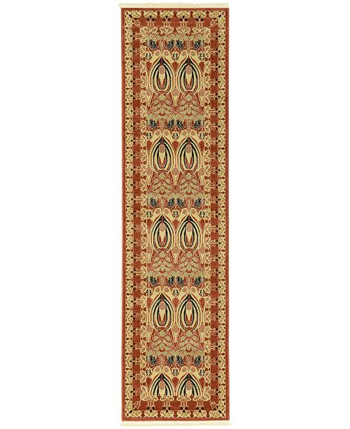 "Bridgeport Home Orwyn Orw3 Red/Beige 2' 7"" x 10' Runner Area Rug"