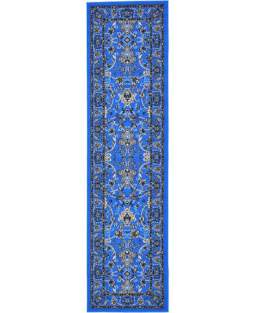 "Bridgeport Home Arnav Arn1 Blue 2' 7"" x 10' Runner Area Rug"