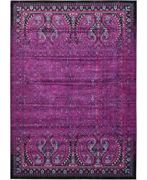 "Bridgeport Home Linport Lin6 Lilac 8' x 11' 6"" Area Rug"