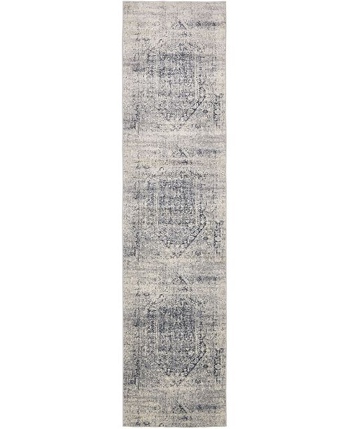 Bridgeport Home Odette Ode1 Gray 3' x 13' Runner Area Rug