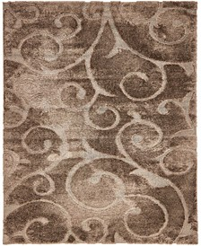 Malloway Shag Mal1 Brown 8' x 10' Area Rug