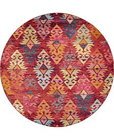 CLOSEOUT! Arcata Arc1 Rust Red 8' x 8' Round Area Rug