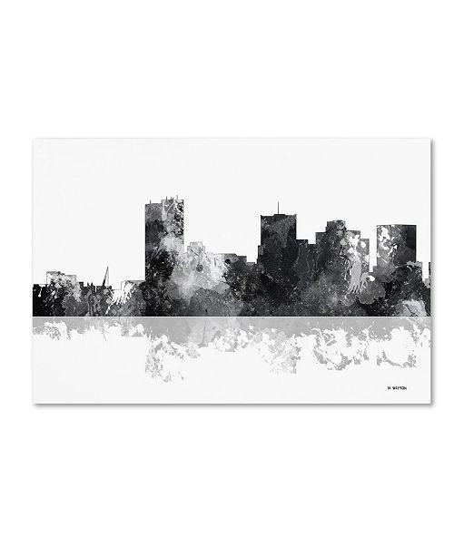 "Trademark Global Marlene Watson 'Phoenix Arizona Skyline BG-1' Canvas Art - 16"" x 24"""