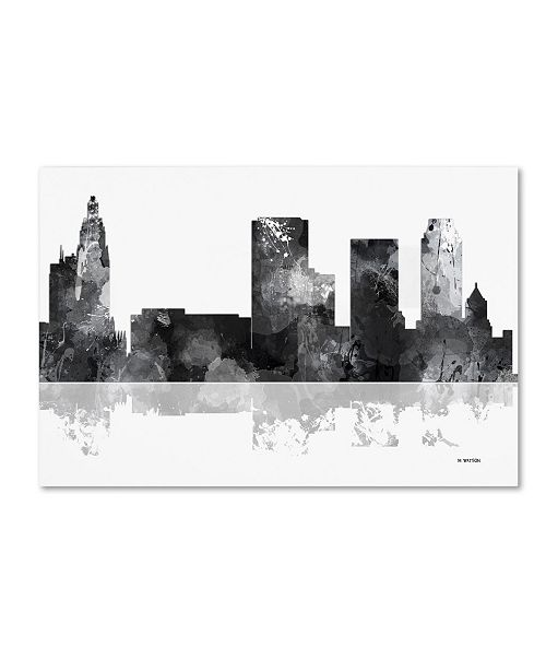 "Trademark Global Marlene Watson 'Tulsa Oklahoma Skyline BG-1' Canvas Art - 16"" x 24"""