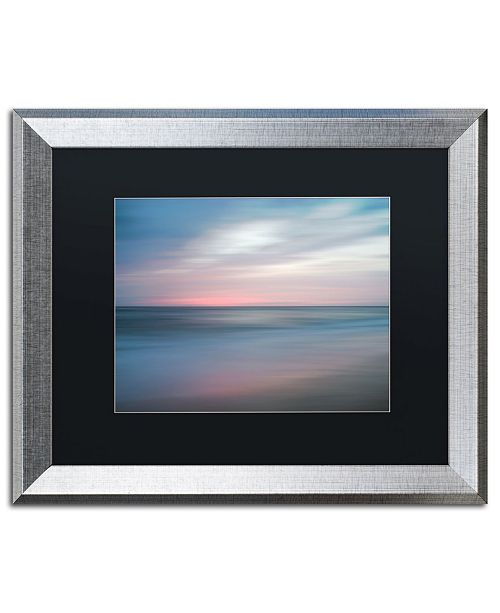 """Trademark Global PIPA Fine Art 'The Colors of Evening on the Beach' Matted Framed Art - 16"""" x 20"""""""