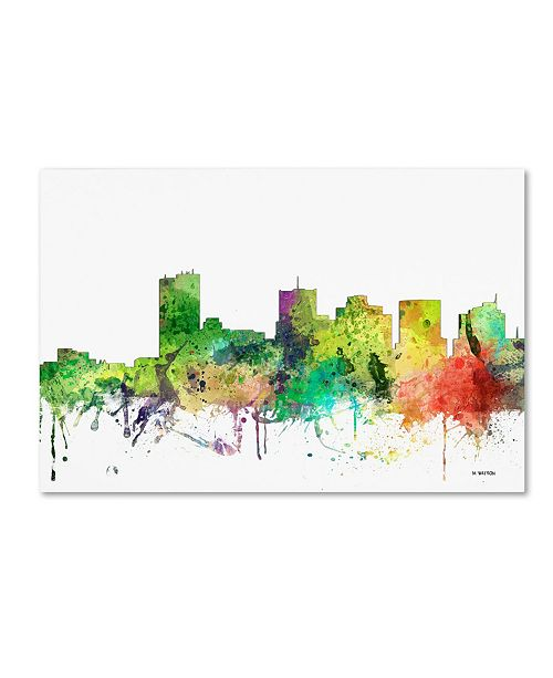"Trademark Global Marlene Watson 'Phoenix Arizona Skyline SP' Canvas Art - 16"" x 24"""