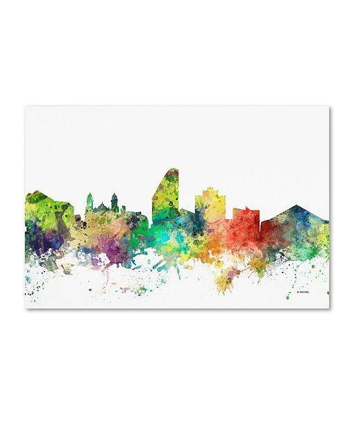 """Trademark Global Marlene Watson 'San Jose California Skyline SP' Canvas Art - 16"""" x 24"""""""