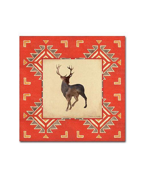 "Trademark Global Stephanie Marrott 'Deer Blanket' Canvas Art - 18"" x 18"""