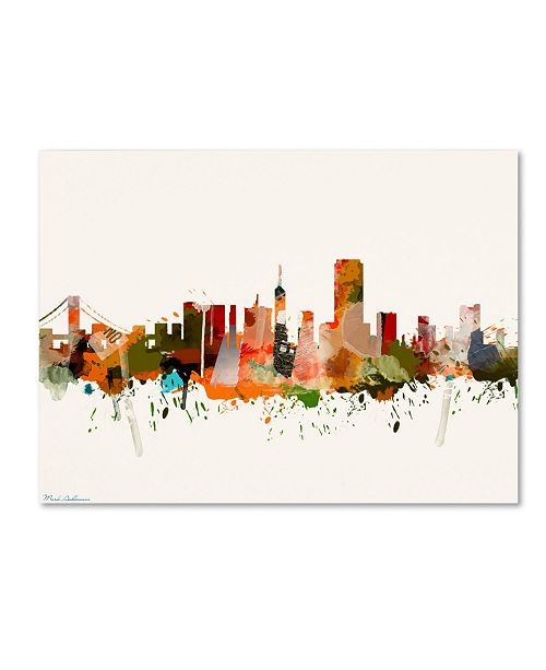 "Trademark Global Mark Ashkenazi 'San Francisco California Mark 2' Canvas Art - 18"" x 24"""