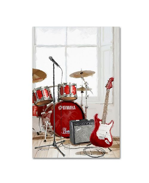 "Trademark Global The Macneil Studio 'Drums and Guitar' Canvas Art - 16"" x 24"""