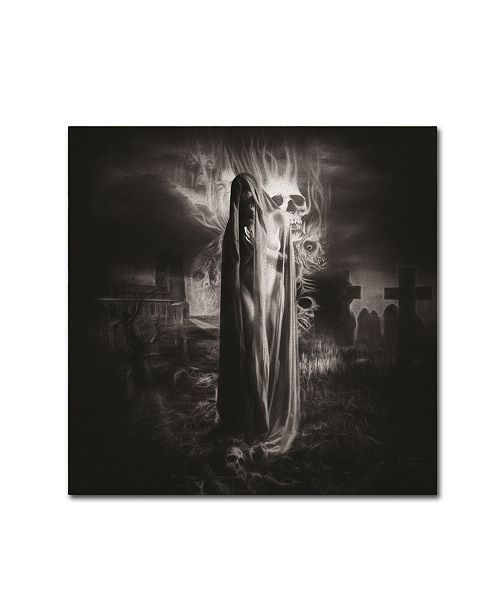 """Trademark Global Erik Brede 'A Prayer for the Lost Souls' Canvas Art - 18"""" x 18"""""""
