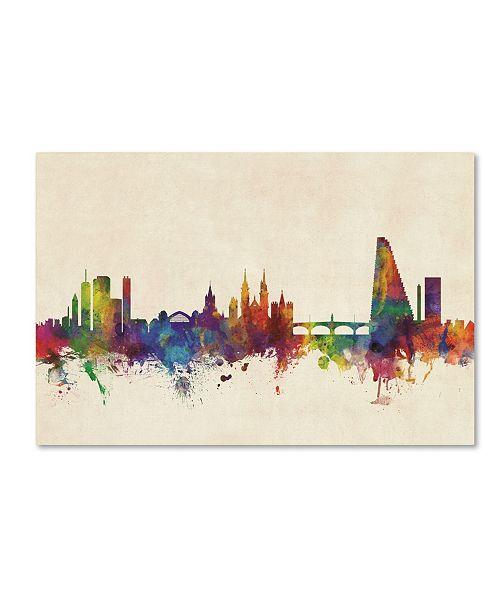 "Trademark Global Michael Tompsett 'Basel Switzerland Skyline' Canvas Art - 16"" x 24"""