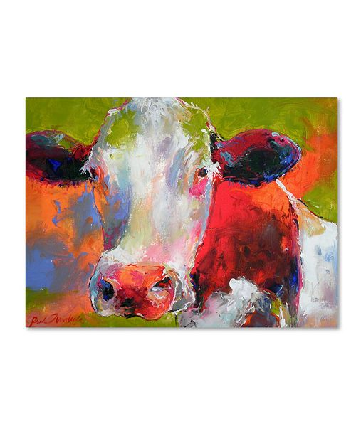 "Trademark Global Richard Wallich 'Art Cow' Canvas Art - 18"" x 24"""