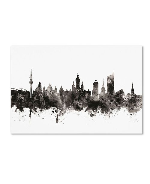 "Trademark Global Michael Tompsett 'Leipzig Germany Skyline I' Canvas Art - 16"" x 24"""
