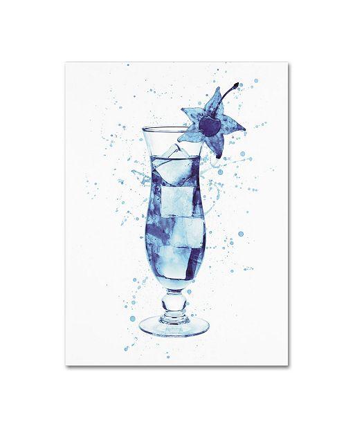 "Trademark Global Michael Tompsett 'Cocktail Drinks Glass Watercolor II' Canvas Art - 18"" x 24"""
