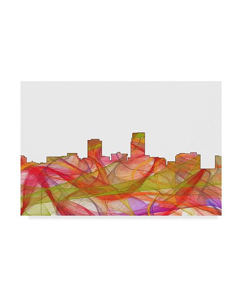 "Trademark Global Marlene Watson 'Omaha Nebraska Skyline Swirl' Canvas Art - 16"" x 24"""